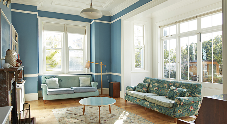 Furniture arranged in living room