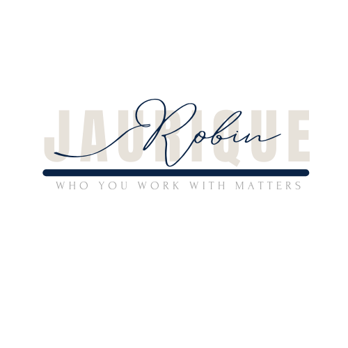 Robi Janurique - Blue-Tan Logo